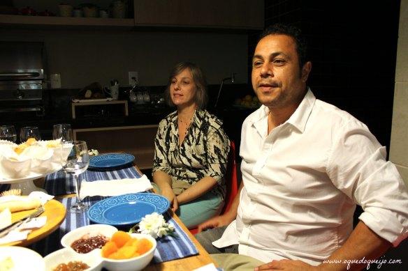 Marco, o dentista cozinheiro, e nossa amiga Lilian