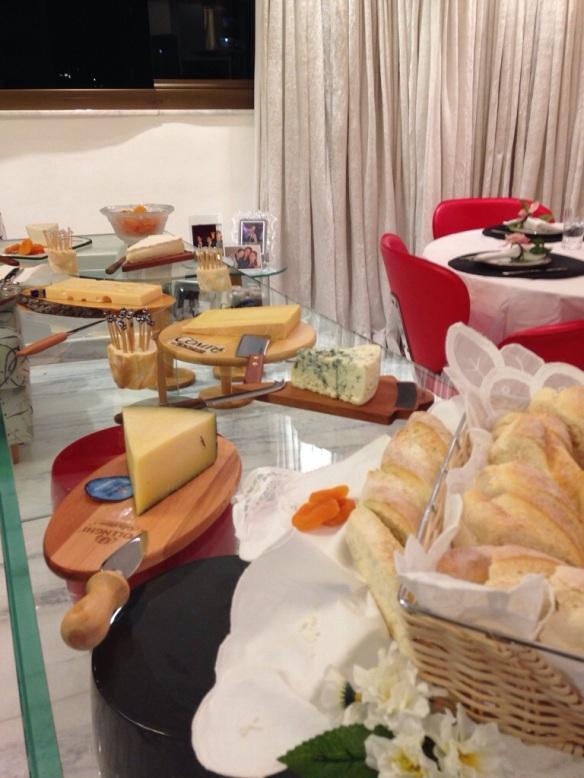 A mesa de queijos