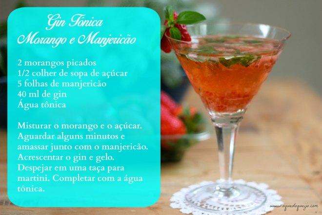 gin morango e manjericão